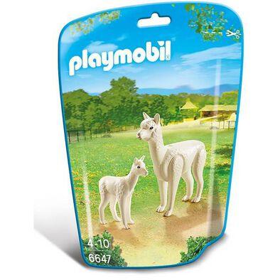 Playmobil摩比世界野生動物套裝 羊駝家族