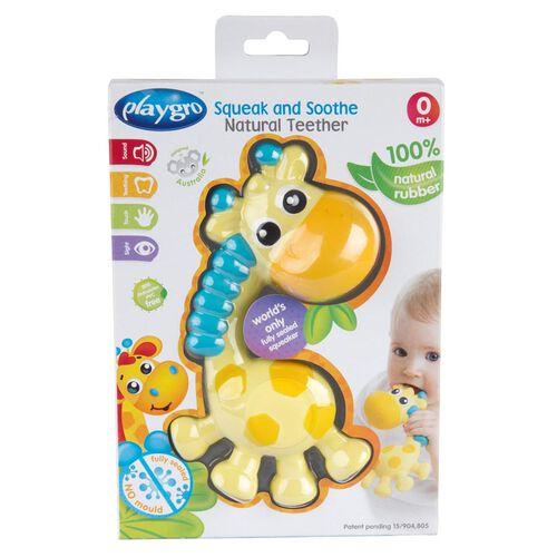 Playgro培高 慕斯長頸鹿 全密封天然乳膠牙膠固齒器