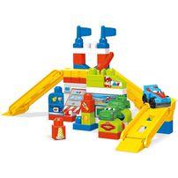 Mega Bloks美高積木 大積木賽車車庫情景套裝